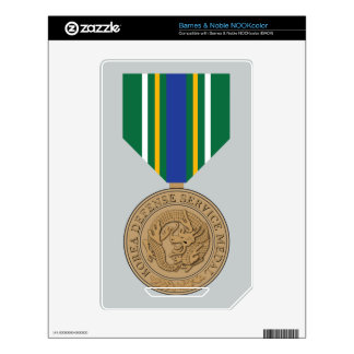 Korea Defense Service Medal Skins For NOOK Color