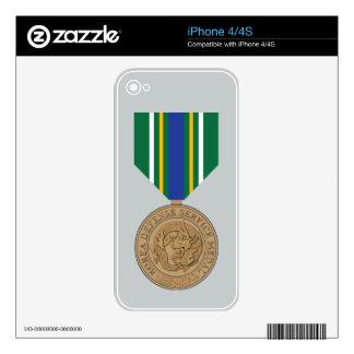 Korea Defense Service Medal iPhone 4S Skins