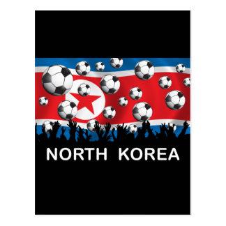 Korea DPR Football Postcard