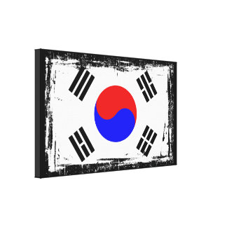 Korea Flag Canvas Print