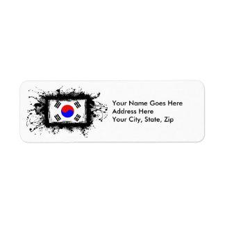 Korea Flag Label