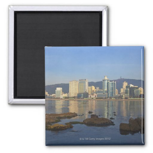 Korea, Gyeongsangnam-do, Busan, Gwangan beach 2 Inch Square Magnet