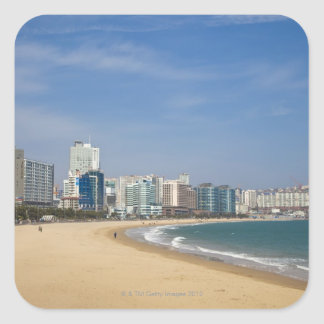 Korea, Gyeongsangnam-do, Busan, Haeundae beach Square Stickers
