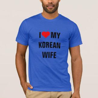 KOREA; I LOVE MY KOREAN WIFE T-Shirt