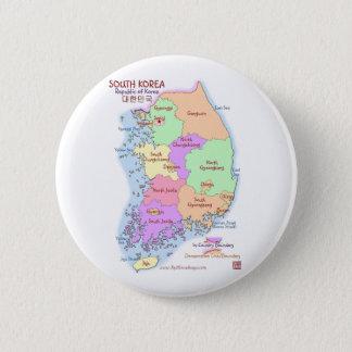 Korea Map Button
