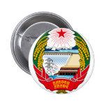 korea north emblem 2 inch round button