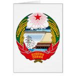 korea north emblem greeting card