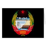 korea north emblem greeting cards