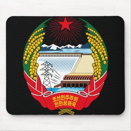 korea north emblem mouse pad