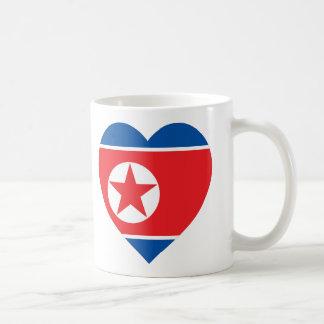 Korea (North) Flag Heart Coffee Mug