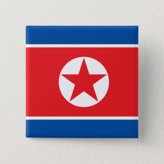 korea north pinback button