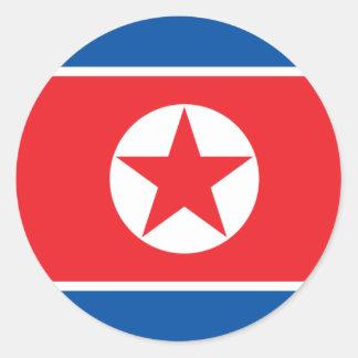 korea north round stickers