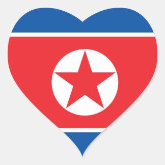 korea north heart sticker