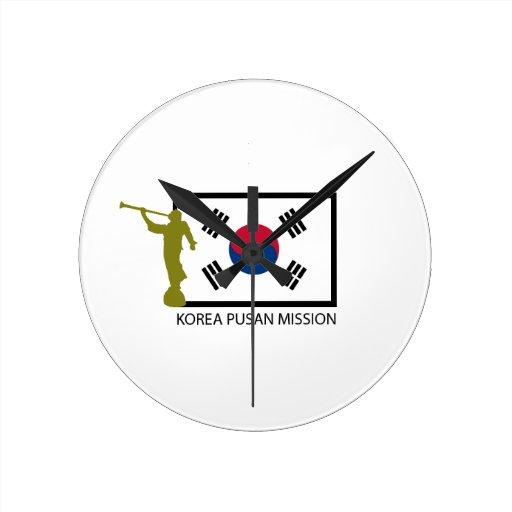 KOREA PUSAN MISSION LDS CTR ROUND WALL CLOCKS