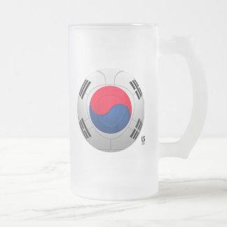 Korea Republic 대한민국 Football Frosted Glass Beer Mug