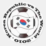 Korea Republic vs The World Round Sticker