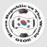 Korea Republic vs The World Round Stickers