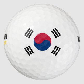 korea south pack of golf balls