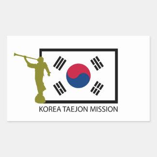 KOREA TAEJON MISSION LDS CTR RECTANGULAR STICKER