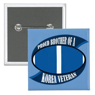 Korea Vet Brother Button