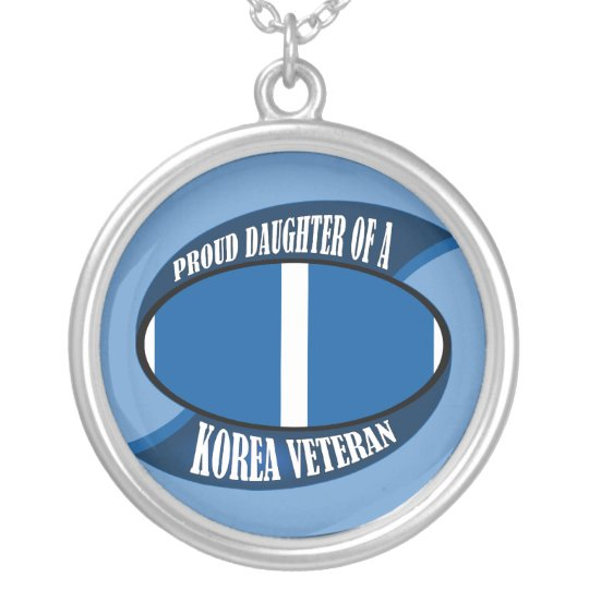 Korea Vet Daughter Silver Plated Necklace
