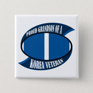 Korea Vet Grandson Pinback Button