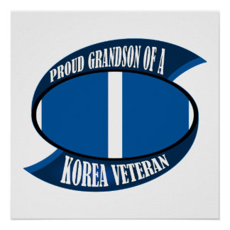 Korea Vet Grandson Posters