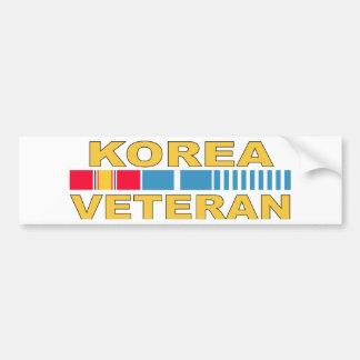 Korea Veteran Bumper Sticker