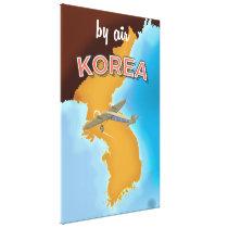Korea vintage travel poster print