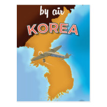 Korea vintage travel poster print postcard