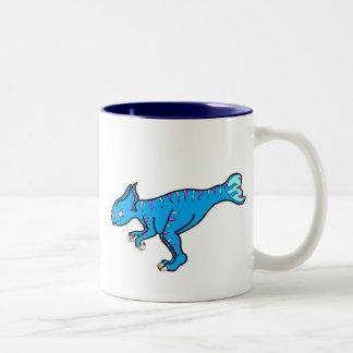 Koreaceratops azul taza de dos tonos