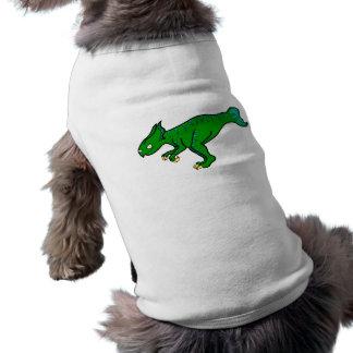 Koreaceratops verde playera sin mangas para perro