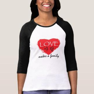 "Korean Adoption Shirt - ""Love Makes a Family"""