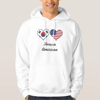 Korean American Flag Hearts Hoodie
