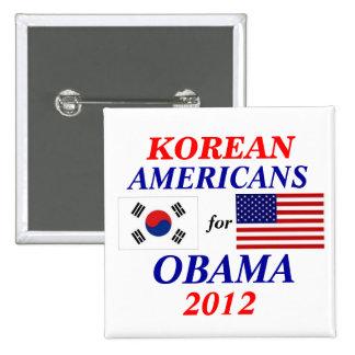 Korean americans for Obama Pinback Button
