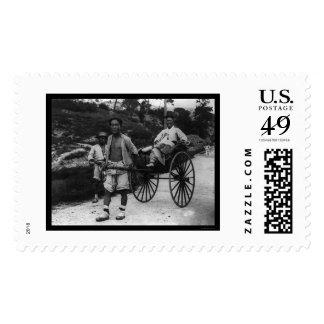 Korean Aristocrat Rickshaw 1910 Postage Stamps