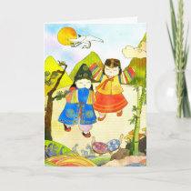 Korean Baby's First Birthday cards by daphne1024
