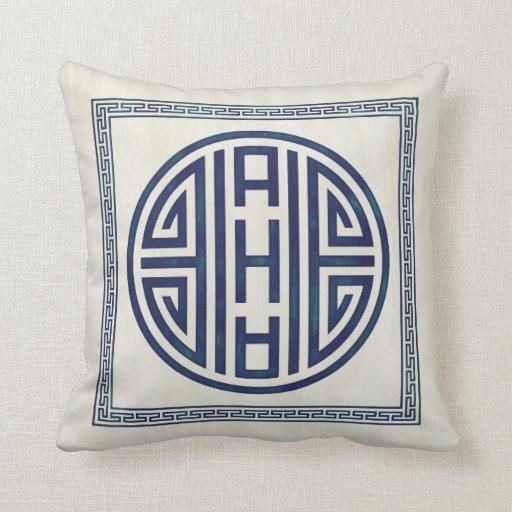 Korean Blue and White Pillow