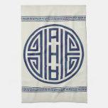 Korean Blue and White Towel