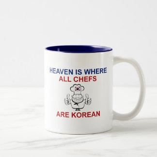 Korean Chefs Two-Tone Coffee Mug