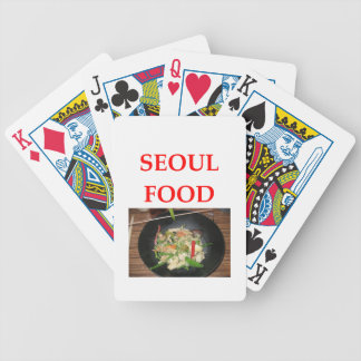 korean cuisine bicycle playing cards