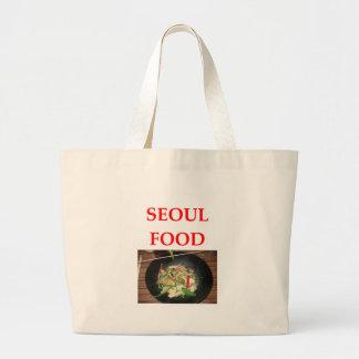 korean cuisine large tote bag