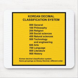 Korean Decimal System Mouse Pad