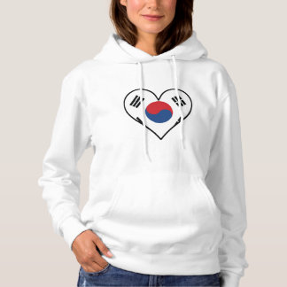 Korean Flag Heart Hoodie