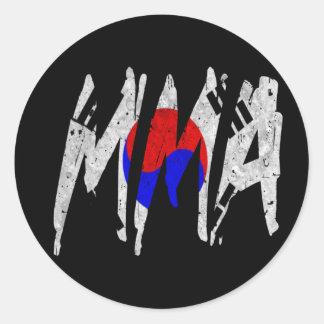 Korean Flag MMA Classic Round Sticker