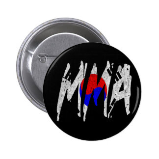 Korean Flag MMA Pinback Button