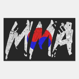 Korean Flag MMA Sticker