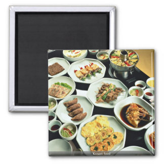 Korean food 2 inch square magnet