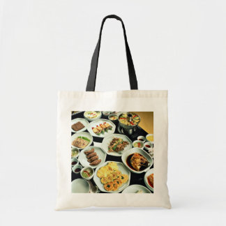 Korean food budget tote bag