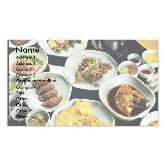 Korean food business card